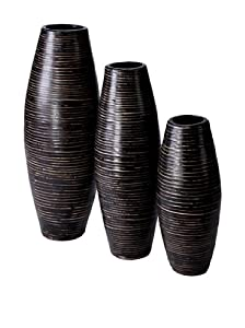 Hujan Large Rattan Vase (Set of 3)