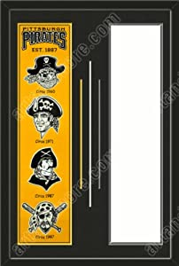 Pittsburgh Pirates & Your Choice of other Team Heritage Banner Framed-House... by Art and More, Davenport, IA