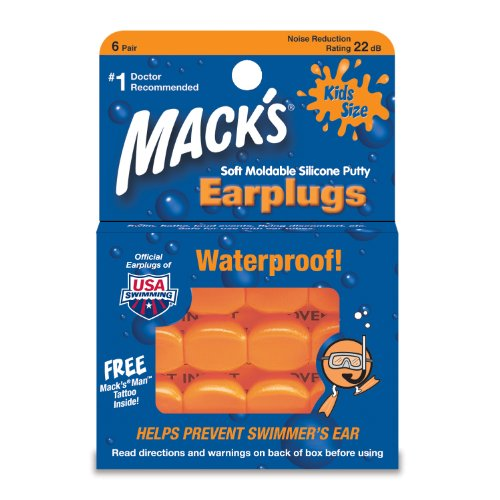 Macks Kids Pillowsoft Earplugs - Orange 6 Pairs