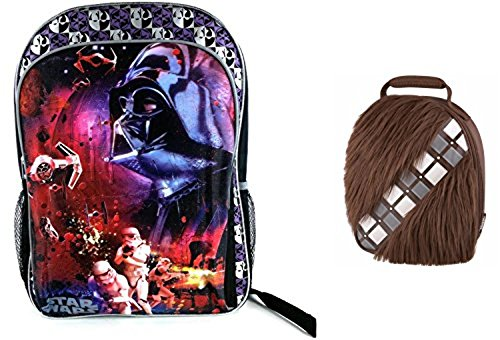 Star Wars Darth Vader Backpack and Wookie Lunchbox Combo