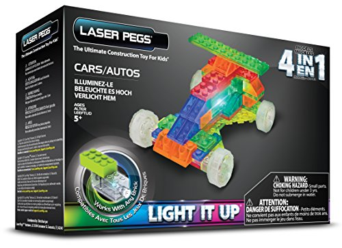 Laser Pegs 4-in-1 Cars Building Set (Car Building Set compare prices)