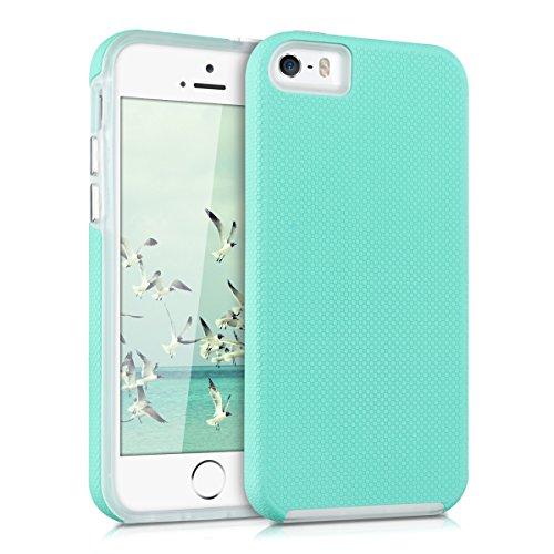 kalibri-Armor-Hlle-fr-Apple-iPhone-SE-5-5S-TPU-Silikon-und-Kunststoff-Case-in-Mintgrn