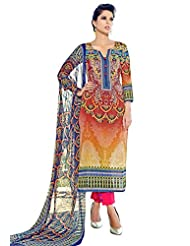Surat Tex Multicolor Color Digital Print Cotton Semi-Stitched Salwar Suit-D319DL2406SA