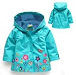 SOPO Toddler Girls Blue Hood Coat wit...