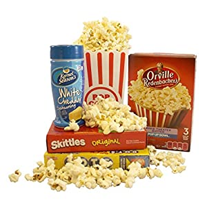 Sweet Treats Movie Night Popcorn & Candy Gift Set