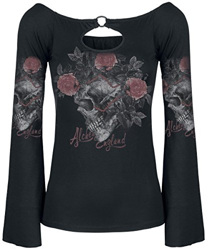 Alchemy England Ace of Roses Manica lunga donna nero S