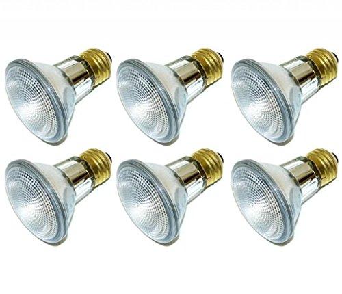 (Pack Of 6) 39PAR20/FL 120V - 39 Watt High Output (50W Replacement) PAR20 Flood - 120 Volt Halogen Light Bulbs