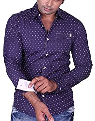 Equipoise Men's Cotton Casual Shirt (EQ-15 XXL/46_Blue_XXL )