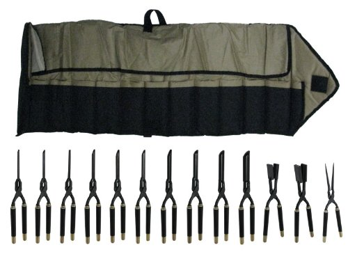Golden Supreme Make Up Artist Set Of 10 Irons 2 Wave Beard Texturizers Plus Micro Silky Flat Iron In A Thermal Iron Bag Non-Electric