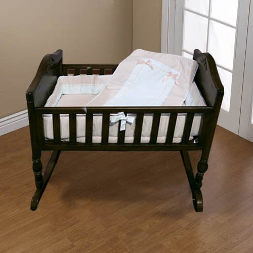 Baby Doll Bedding Royal Pique Port-a-Crib Bedding Set, Pink