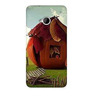 Delighted Cutest Hut Print Back Case Cover for HTC One M7
