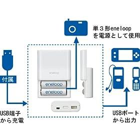 SANYO USB出力付き充電器セット KBC-E1S KBC-E1S