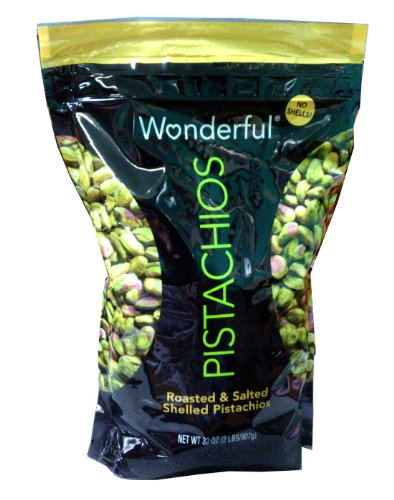 Wonderful Pistachios Roasted and Salted Shelled Pistachios 32 Ounce Value Bag
