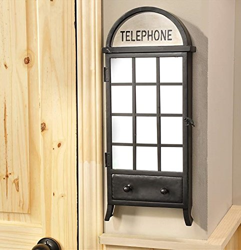 Vintage Inspired Telephone Booth Key Hook Box Wall Decoration