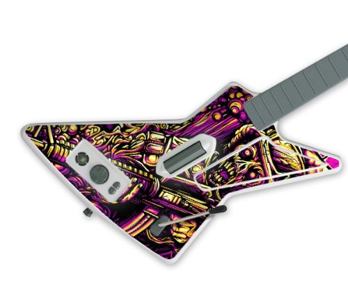 Zing Revolution MS-RISE10040 Guitar Hero Gibson X-Plorer- Xbox 360- Rise Records- Soldier Skin