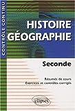 echange, troc Gaudin Martinez - Histoire Geographie Seconde Resume De Cours Exercices Et Controles Corriges