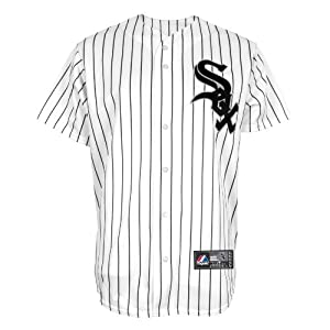 MLB Chicago White Sox Home Replica Baseball Youth Jersey, White Black by Majestic