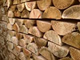 "10 x 1.8m (6ft) 100mm (4"") Diameter Half Round Wooden Fence Posts"