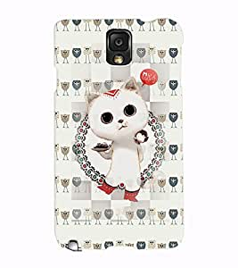 Fuson 3D Printed Cat Designer back case cover for Samsung Galaxy Note 3 - D4266