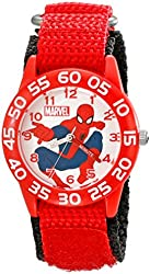 Marvel Kids' W001718 Spider-Man Analog Display Analog Quartz Red Watch