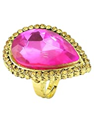 Pink Color Simulated Stone Gold Plated Rings By R S Jewels