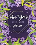 "2019-2023 Five Year Planner: Purple Floral Cover, Monthly Schedule Organizer, 60 Months Calendar Planner Agenda 8"" x 10"" with holidays"