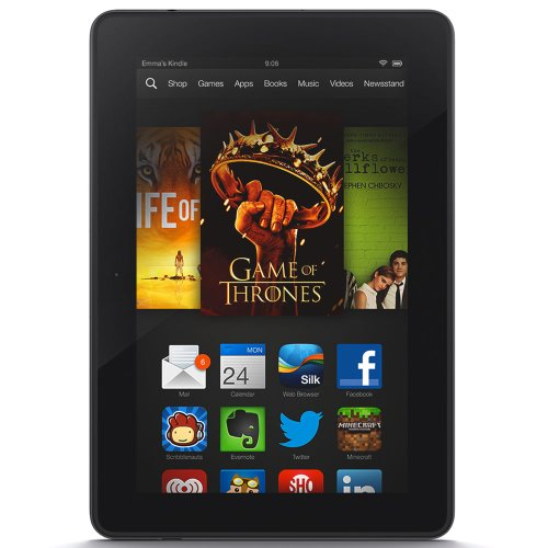 Kindle Fire HDX 7″, HDX Display, Wi-Fi and 4G LTE, 16 GB – Includes Special Offers
