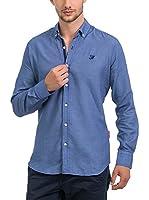 JACK WILLIAMS Camisa Hombre (Azul Medio)