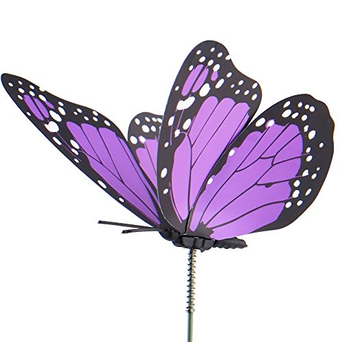 Austor 26 pcs dragonfly butterfly stakes garden ornaments for Outdoor butterfly decor