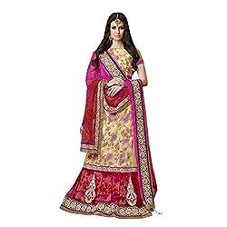 Triveni Net & Art Silk Lehenga Choli (TSMH3750_Cream)