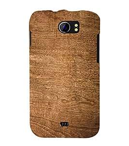 PrintVisa Plain Wooden Pattern 3D Hard Polycarbonate Designer Back Case Cover for Micromax Canvas 2 A110 A110Q