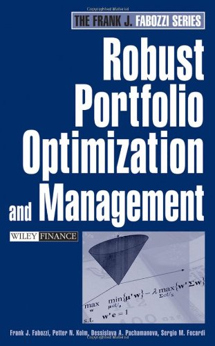 Robust Portfolio Optimization and Management (Frank J....