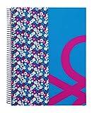 Benetton  - Bloc A4, diseño Flowers, 120 hojas (Safta 511553064)