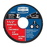 Century Drill and Tool 8411 Metal Abrasive Cutting and Grinding Wheel, 1-1/2-Inch by 1/4-Inch