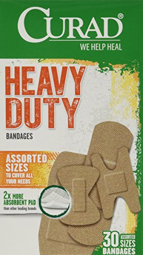 Curad Extreme Hold Bandages, Assorted Sizes, 30/Box, Case of