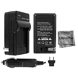 UltraPro Nikon D7000 Digital Camera Battery Charger (110/220v with Car and EU adapters) - UltraPro Replacement Charger for Nikon EN-EL15 Battery