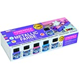 Hobby Line 77301 - Acryl - Metallicfarbe Power Pack Limited Edition Set Wintertime, 5 x 60 ml