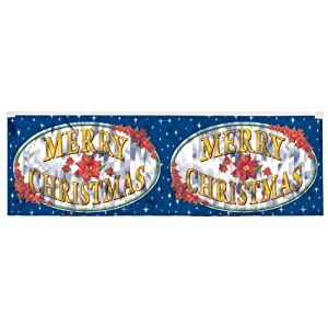 FR Metallic Merry Christmas Fringe Banner Party Accessory (1 count) (1/Pkg)