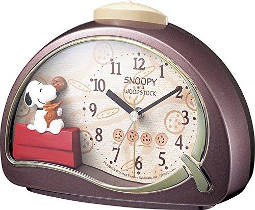 リズム時計 SNOOPY(スヌーピー) 目覚まし時計 R506 ブラウン 4SE506MJ09