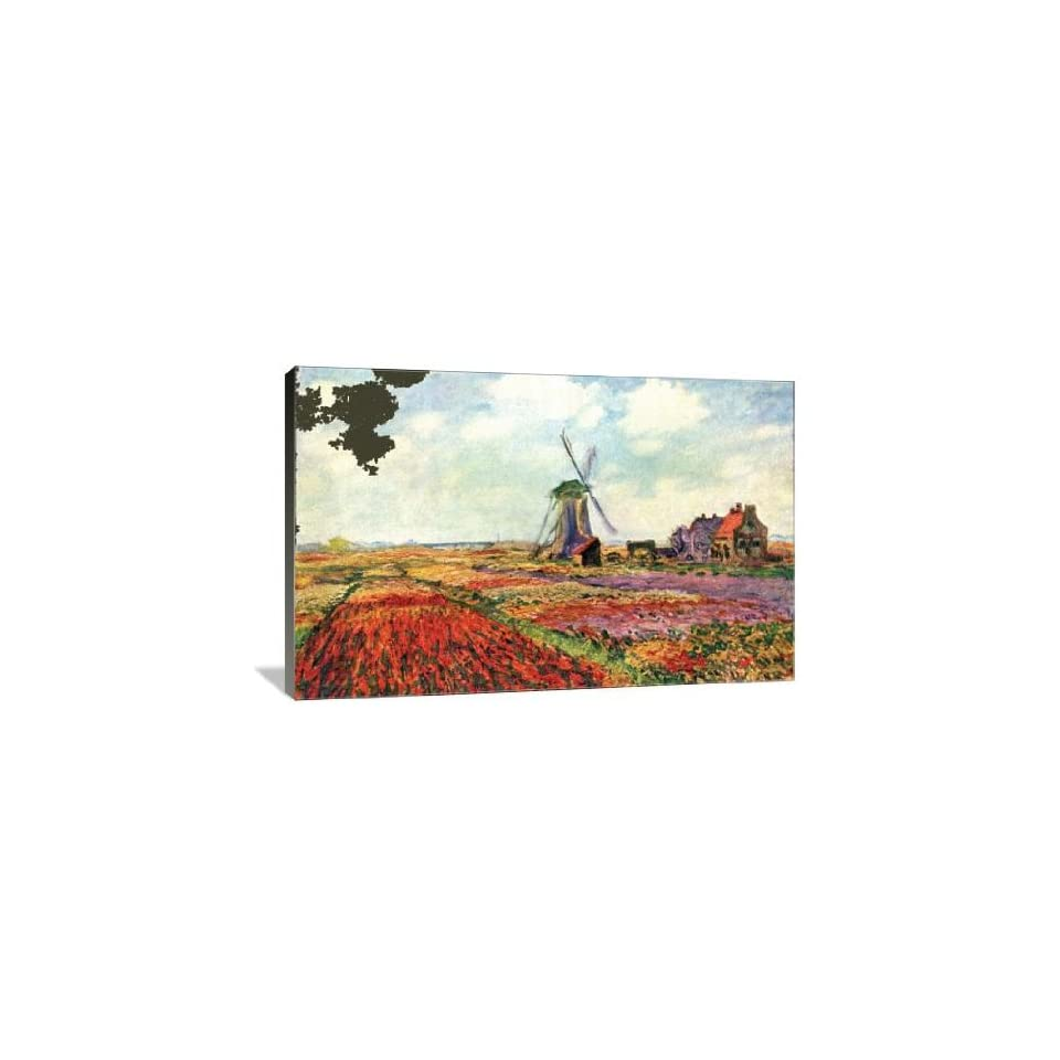 Tulips of Holland   Gallery Wrapped Canvas   Museum Quality  Size 36 x 24 by Claude Monet