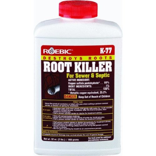 roebic foaming root killer instructions
