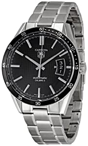 TAG Heuer Men's WV211M.BA0787 Carrera Calibre Five Black Dial Watch