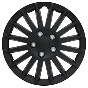 "Pilot Automotive WH521-15C-B All Black 15"" Indy Wheel Cover, (Set of 4)"