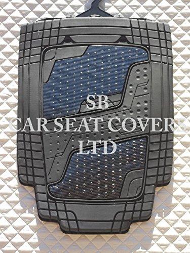 kia-sedona-pvc-quadri-in-alluminio-argento-tappetini-auto-universale-4-pezzi-set