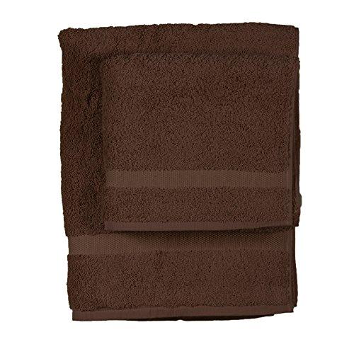 Asciugamano e ospite COGAL in spugna 650 grammi colore cacao 017