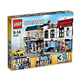 LEGO Creator 3-in-1 Bike Shop & Café Modular Building Set With Outdoor Dining, Rooftop BBQ And Auto