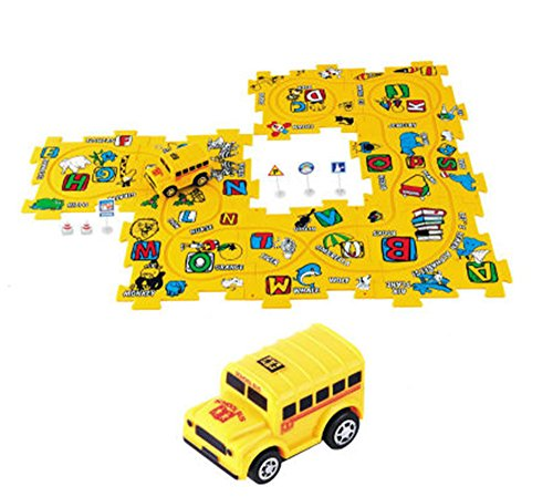 Puzzle Vehicle Battery Operated Car Playset - 15 Pcs (Assorted Styles)