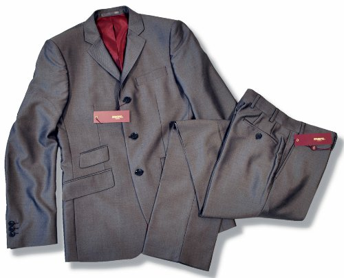 New Merc Mod 2 Two Tone Tonic Suit Charcoal Grey 38 Chest / 32 Waist