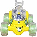 Green Ben 10 Stunt Racer Remote Musical Flashing Lights Radio Control Car RC 360' Rotating Toy For Kids Boys 26 Cm
