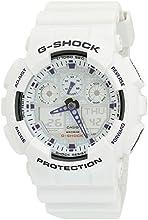 Casio Men39s GA100A-7 G-Shock X-Large Analog-Digital White and Blue Sports Watch